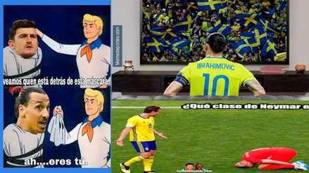 Ibrahimovic apareció en los memes del duelo entre Inglaterra vs. Suecia