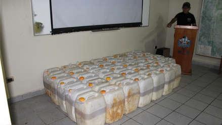 PNP decomisa 831 kilos de cocaína líquida en el Vraem