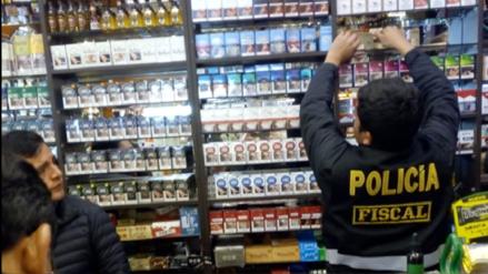 Incautan cigarrillos adulterados en tiendas del centro histórico de Cusco