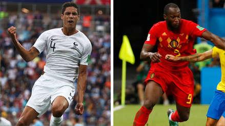 Francia vs. Bélgica: Varane y Lukaku, el choque de jóvenes figuras