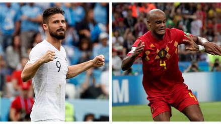 Francia vs. Bélgica: Giroud y Kompany, el gran duelo de pesos pesados