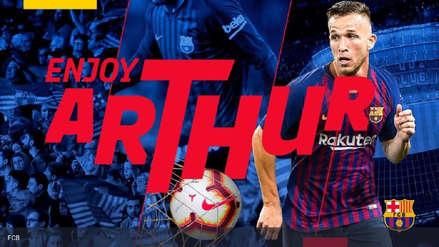 Barcelona oficializó el fichaje de Arthur hasta el 2024