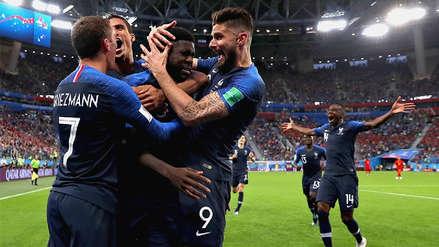 Francia venció a Bélgica 1 a 0 con un gol de Umtiti y jugará por la gloria en Rusia 2018