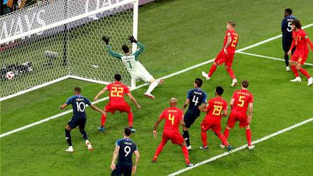Francia vs. Bélgica: Samuel Umtiti de cabeza abre el marcador en las semifinales