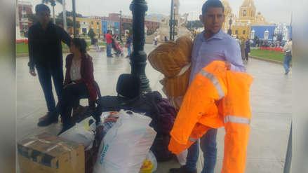 Trujillanos colectan ayuda humanitaria para afectados por friaje en Puno