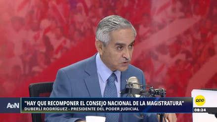 "Duberlí Rodríguez: ""Hay que recomponer el Consejo Nacional de la Magistratura"""