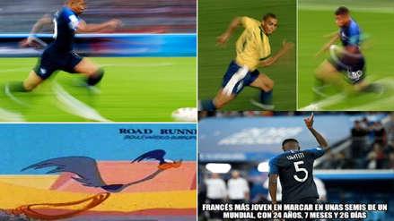 Mbappé protagonizó los memes tras el triunfo de Francia ante Bélgica
