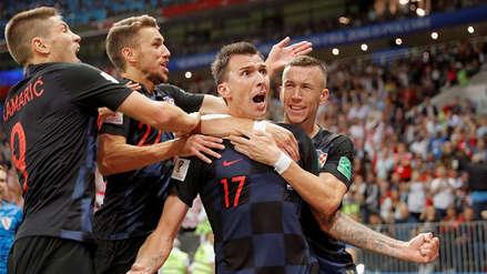 Croacia venció a Inglaterra en tiempo extra y jugará la final de Rusia 2018 ante Francia