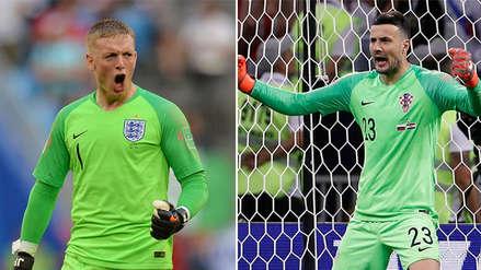 Jordan Pickford y Danijel Subašić, duelo de porteros ataja penales en el Inglaterra vs. Croacia