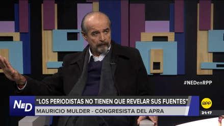 Mulder confirmó que comisión anulará citación a Gustavo Gorriti y Rossana Cueva