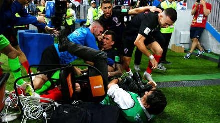 Las imágenes captadas por el fotógrafo derribado por Mandzukic tras marcar su gol