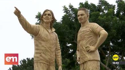San Miguel instaló esculturas de Ricardo Gareca y Paolo Guerrero en un parque