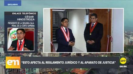 César Hinostroza justificó fallo que absolvió a un condenado por violar a una menor