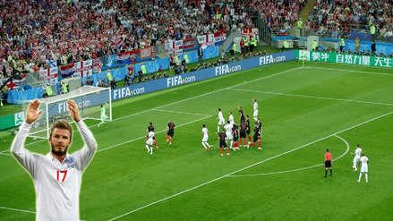 Inglaterra - Croacia: Trippier anotó golazo de tiro libre a lo David Beckham