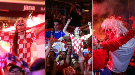 Así fueron los festejos de los hinchas croatas en las calles de Zagreb