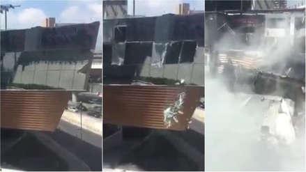 Video | Un lujoso centro comercial se derrumbó en Ciudad de México