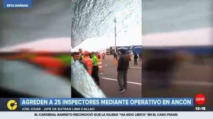Inspectores de la Sutran fueron agredidos durante operativo en Ancón
