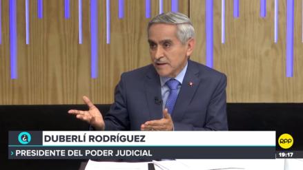 Duberlí Rodríguez: el presidente del Poder Judicial debería tener la facultad de separar jueces