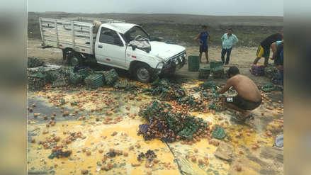 Cargamento de huevos se echa a perder en accidente de tránsito en Trujillo
