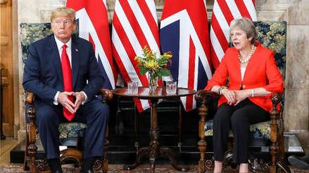 Trump tensa su relación con May: la criticó y puso en duda su acuerdo comercial con Reino Unido
