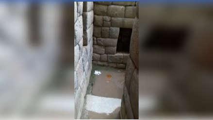 Denuncian que visitantes utilizan Machupicchu como baño público