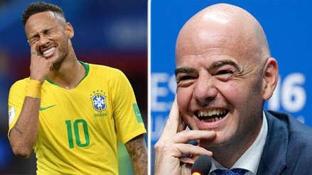 El presidente de la FIFA le mandó un mensaje a Neymar por simular faltas