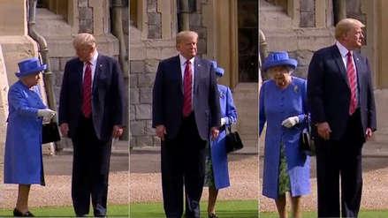 La peculiar caminata de Donald Trump y la reina Isabel en el castillo de Windsor