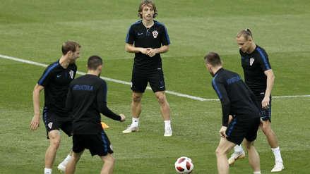 Croacia entrenó para el partido ante Francia con esta importante ausencia