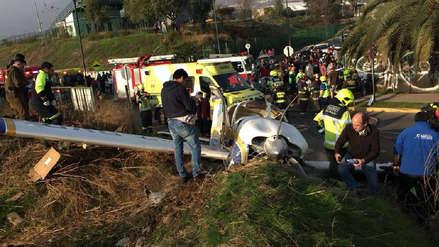 Cuatro heridos dejó la caída de una avioneta en Santiago de Chile
