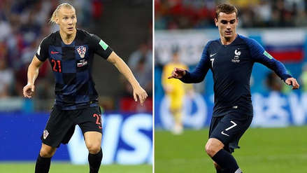 Domagoj Vida y Antoine Griezmann, duelo de fuerza y habilidad por la final de Rusia 2018