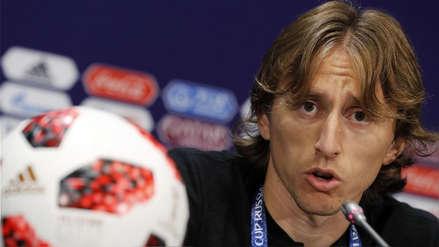 Luka Modric antes del Croacia vs. Francia: