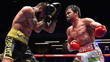 Pacquiao derrotó a Matthysse y se coronó campeón mundial de peso wélter
