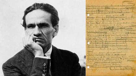 César Vallejo: Publican más de 50 manuscritos inéditos del poeta peruano