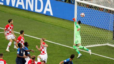 Francia vs Croacia: un gol en contra de Mandzukic abre el marcador en la final de Rusia 2018