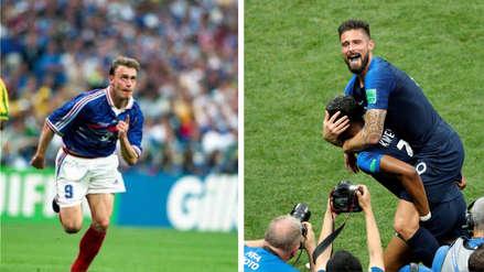 Olivier Giroud y Stéphane Guivarc'h, los '9's  franceses que campeonaron sin anotar en un Mundial