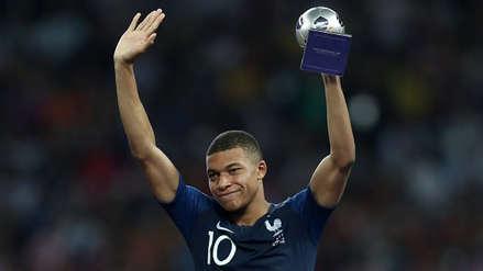Kylian Mbappé fue elegido como el mejor jugador joven del Mundial Rusia 2018