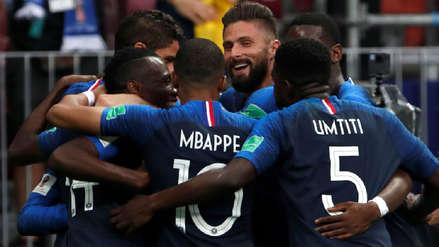 Francia solo tuvo un remate al arco en el primer tiempo y aún así terminó con dos goles