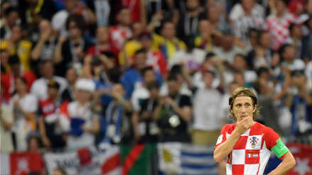 Luka Modric quedó desorientado en el gol de Paul Pogba en el Francia vs. Croacia
