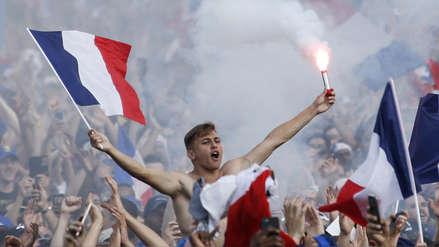La celebraciones en Francia tras coronarse como campeón del Mundial Rusia 2018