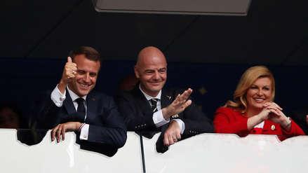 Así vivieron los presidentes de Croacia y Francia la final de Rusia 2018