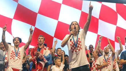 La Selección de Croacia retornó a su país tras su participación en Rusia 2018