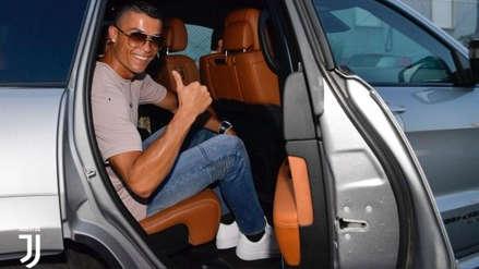 Las primeras imágenes de la llegada de Cristiano Ronaldo a Turín