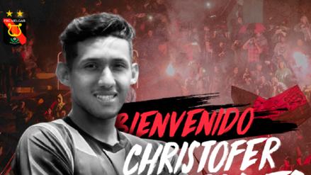 Melgar anunció la contratación de Christofer Gonzáles