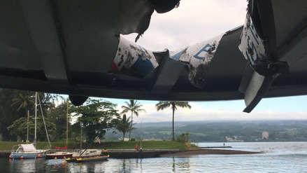 Una explosión de lava del volcán Kilauea impactó con barco en Hawái y dejó 23 heridos