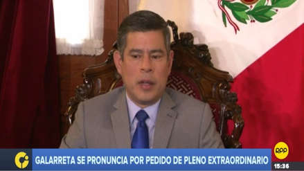 Galarreta confirma Pleno extraordinario y dice que destitución del CNM se hará bajo el