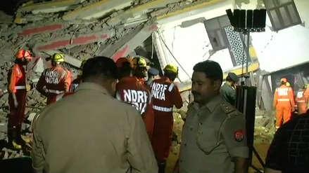 India | Edificio en construcción colapsa con trabajadores adentro