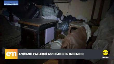 Un anciano murió asfixiado al incendiarse su casa en el Callao