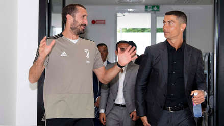 El primer contacto de Cristiano Ronaldo con sus nuevos compañeros de la Juventus