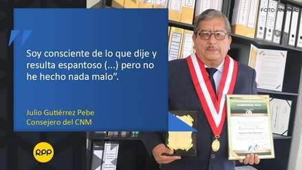 Las frases que dejó Julio Gutiérrez Pebe durante su entrevista con RPP