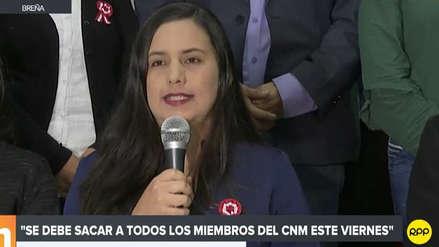 Veronika Mendoza pidió la renuncia de Duberlí Rodríguez a la presidencia del Poder Judicial